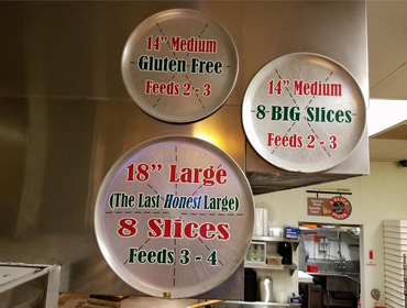 Our promotional pizzas including Gluten Free, served at our Huntington Beach restaurant