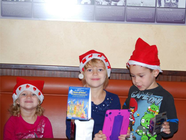 Kids having fund at our Huntington Beach restaurant