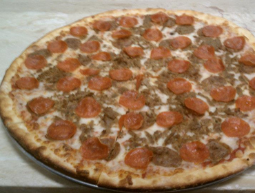 Our large Pepperoni pizza