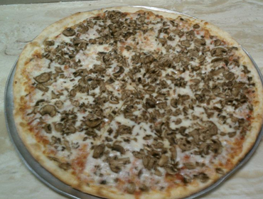 Our large Mushroom Pie pizza