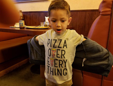 A Kid in our Huntington Beach restaurant