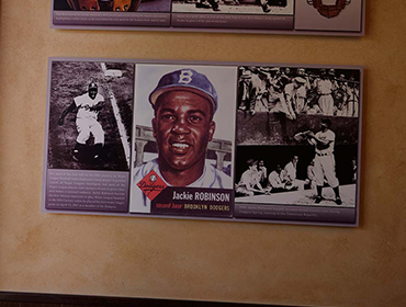 Picture of a famous Baseball player posted on the wall at our Huntington Beach restaurant