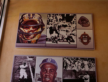 Picture of famous Baseball players posted on the wall at our Huntington Beach restaurant