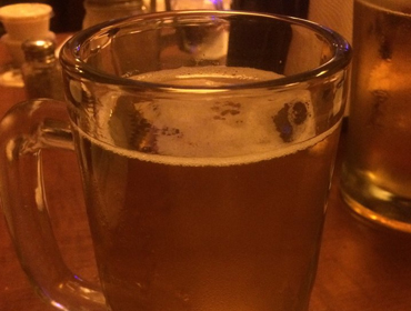 Large Glass filled with Beer