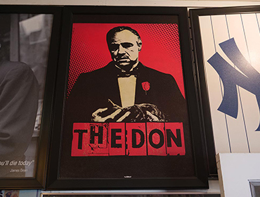Picture frame showing The Don actor from the movie The Godfather